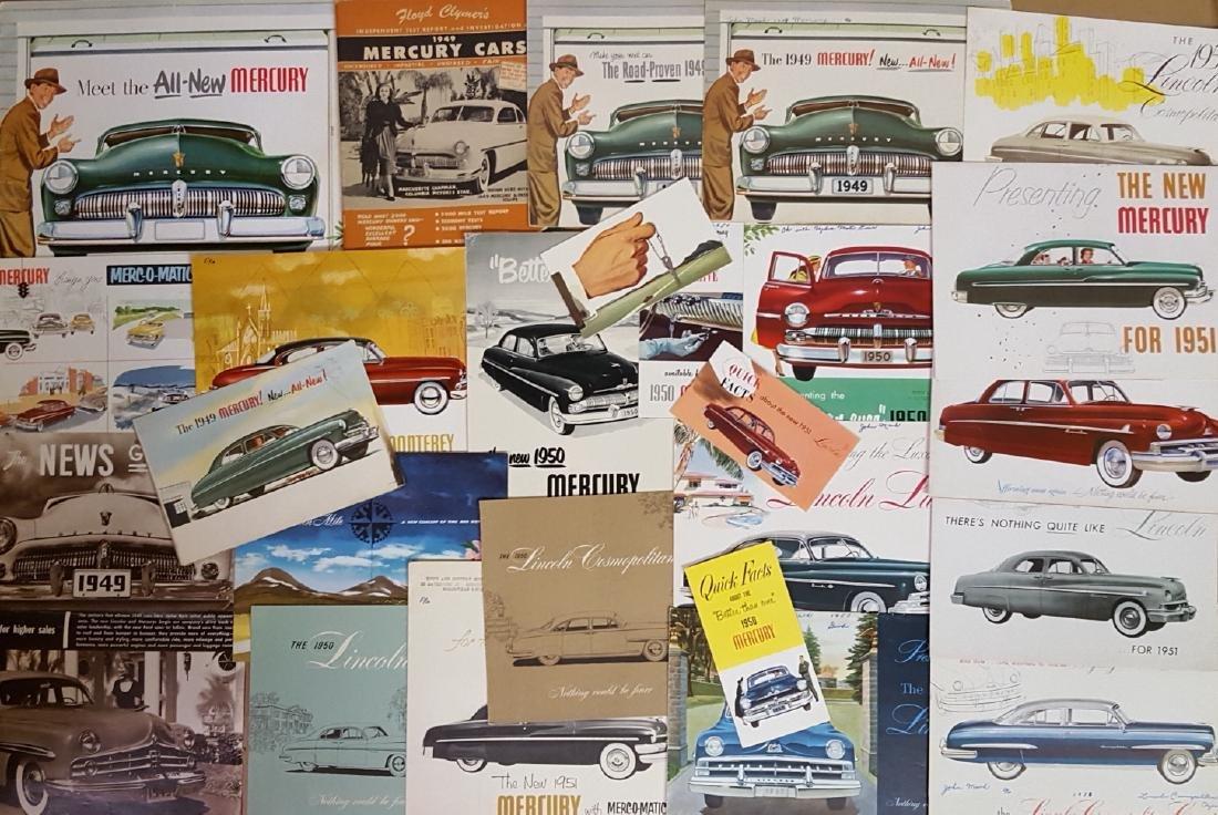 1949-1951 Mercury, Monarch, Lincoln brochures