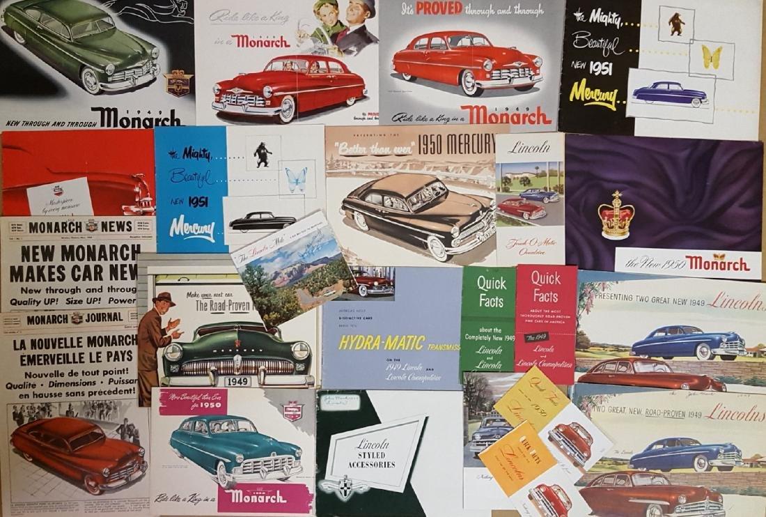 1949-1951 Mercury, Monarch, Lincoln brochures - 2