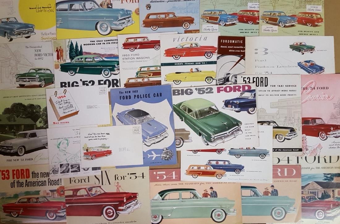 1952-54 Ford products brochures - 2
