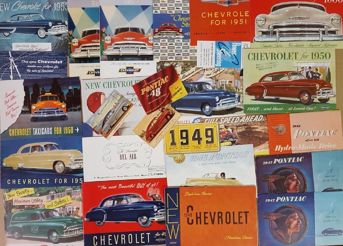 1945-1954 Chevrolet, Pontiac brochures