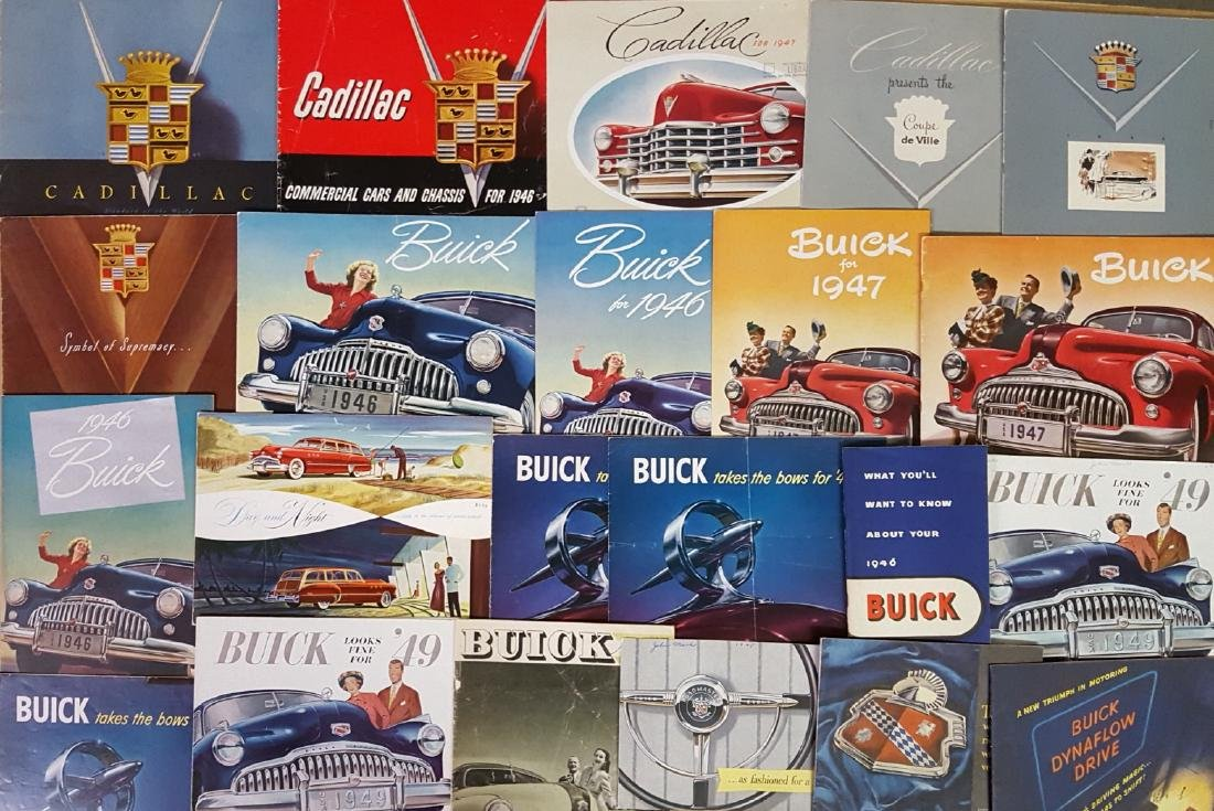 1946-1959 Buick and Cadillac brochures