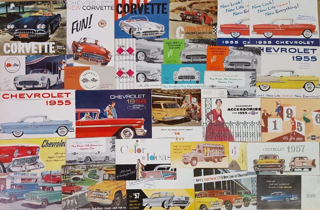 1955-1960 Chevrolet, Corvette brochures