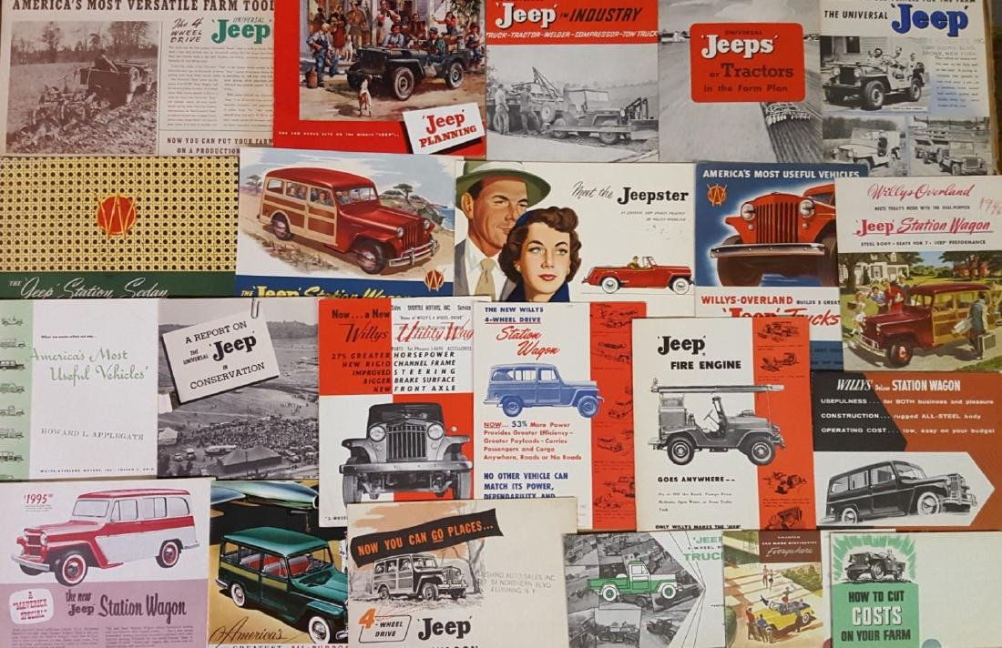 1945-1980 Jeep, International Scout brochures