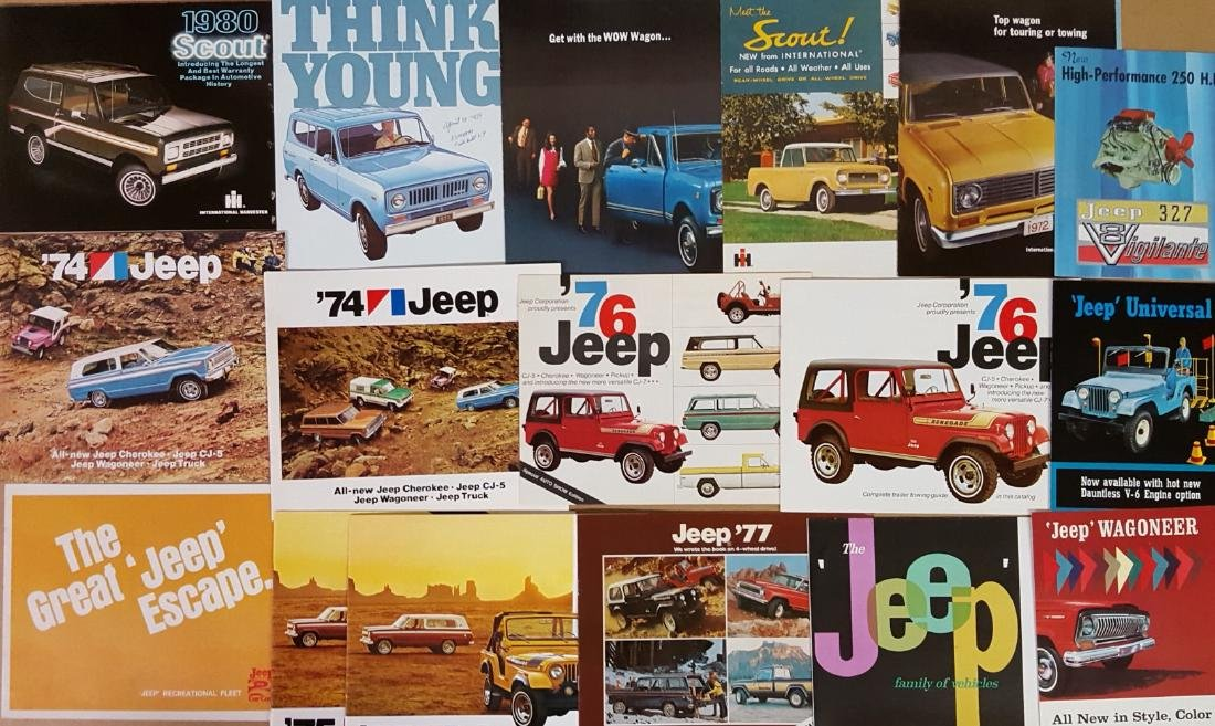 1945-1980 Jeep, International Scout brochures - 2