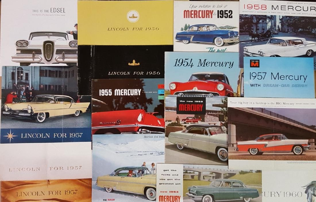 1950'-1970's Ford products brochures