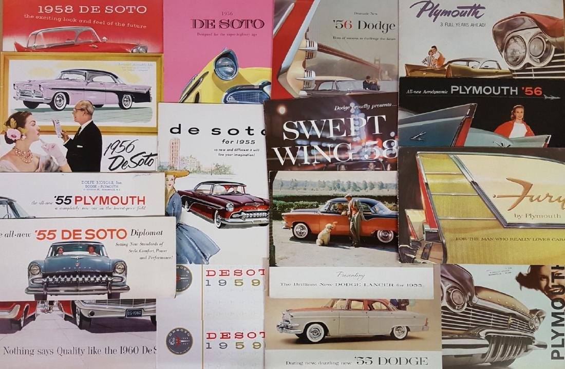 1950's-1960's Chrysler products brochures