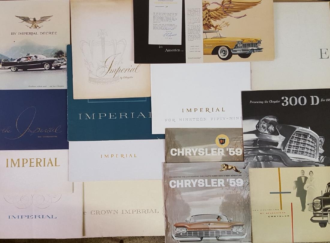 1950's-1960's Chrysler products brochures - 2