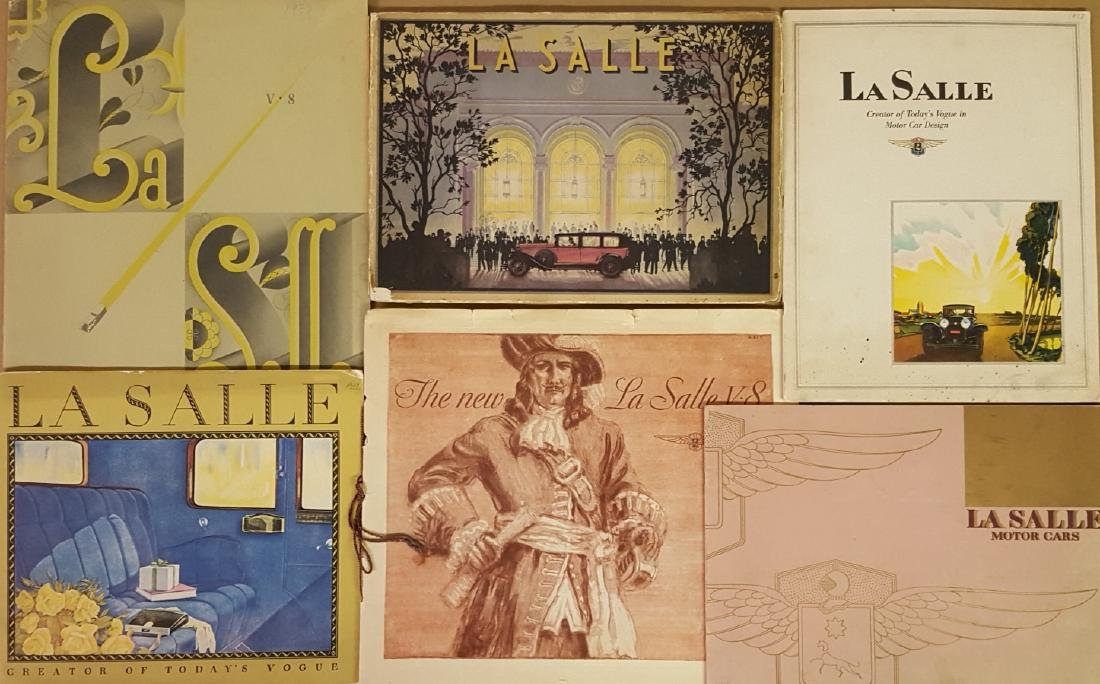 Six classic era LaSalle catalogs