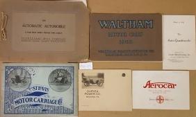 Early car catalogs