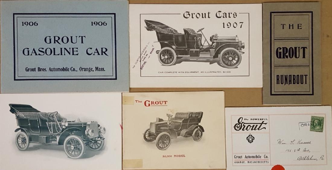 Ten Grout steam car catalogs