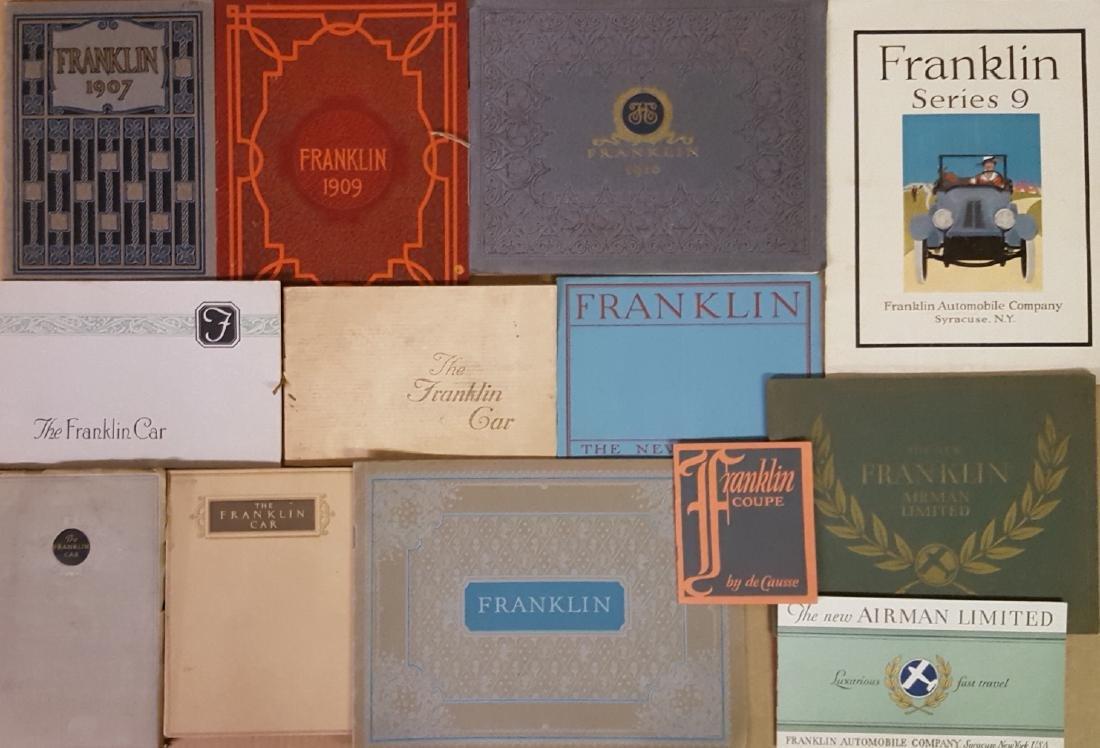 1909 - 1934 Franklin brochures