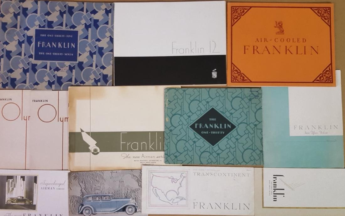 1909 - 1934 Franklin brochures - 2