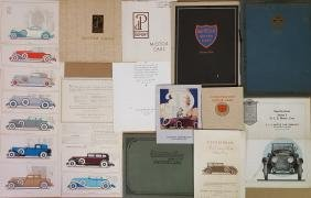 1919 - 1930 quality car brochures