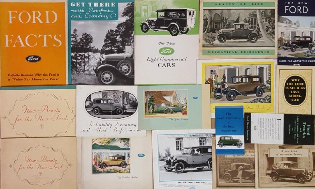 1929-1931 Ford Model A brochures