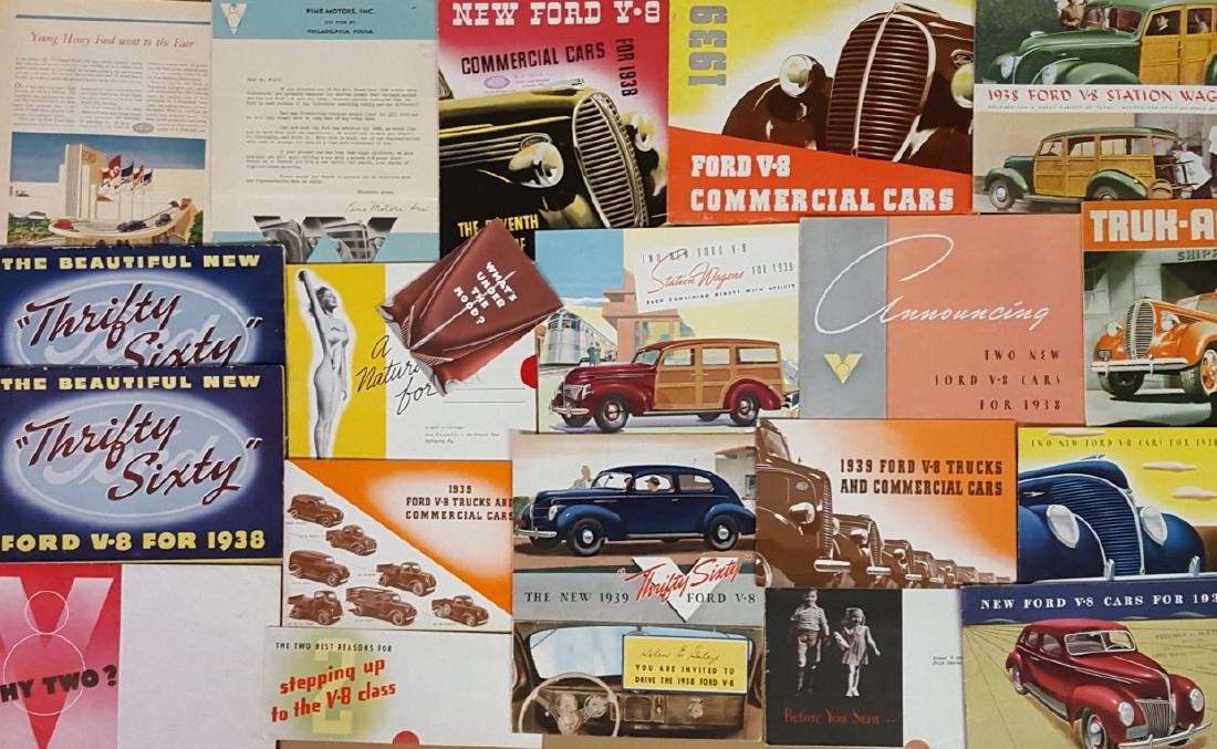1937-1939 Ford and Mercury brochures