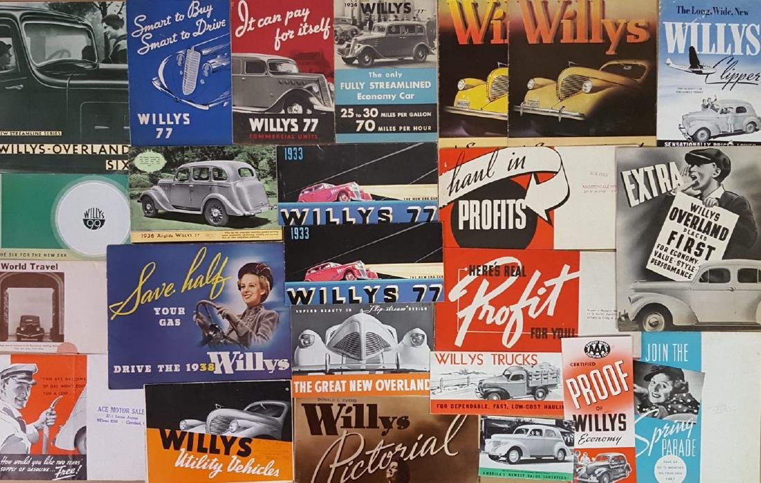 1932-1942 Willys passenger car brochures