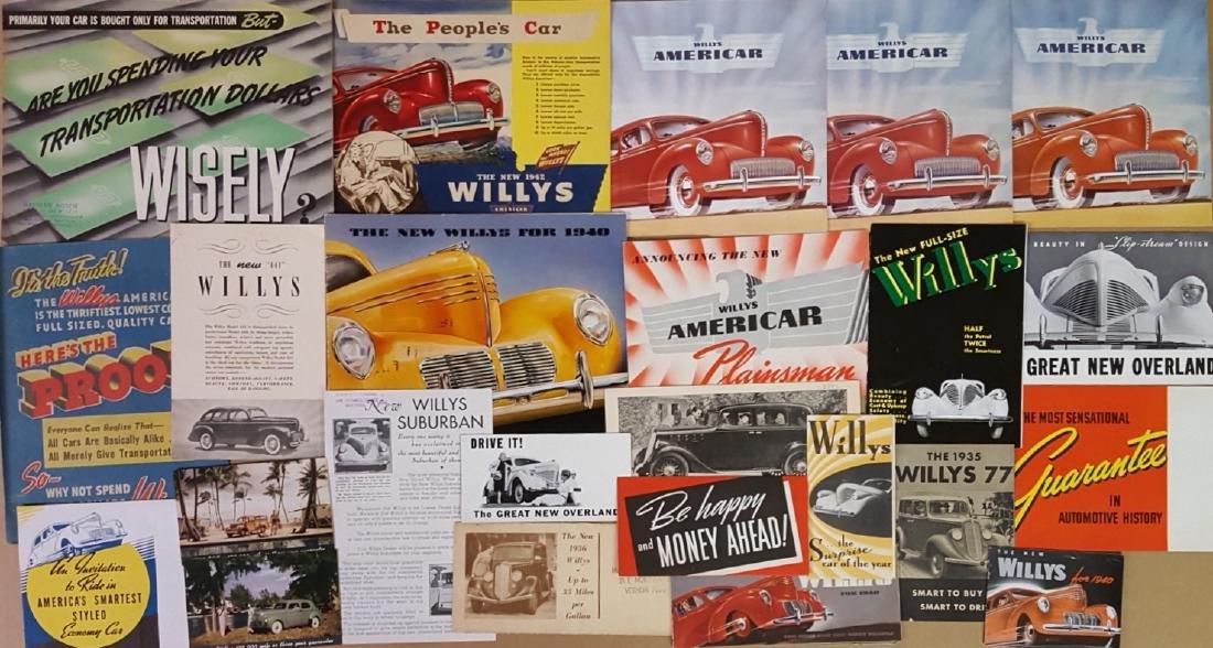 1932-1942 Willys passenger car brochures - 2