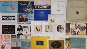 1915-1930 Dodge and Plymouth brochures
