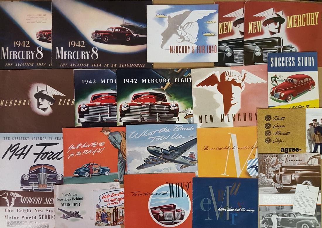 1940-1942 Ford and Mercury brochures