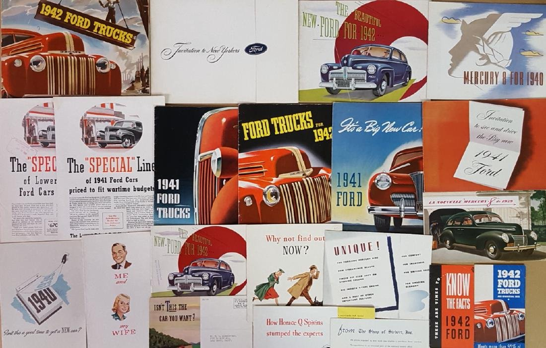 1940-1942 Ford and Mercury brochures - 2