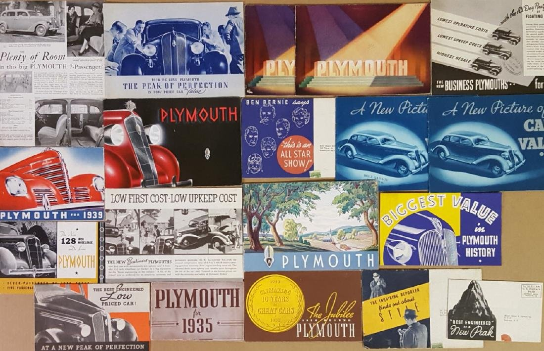 1935-1939 Plymouth brochures