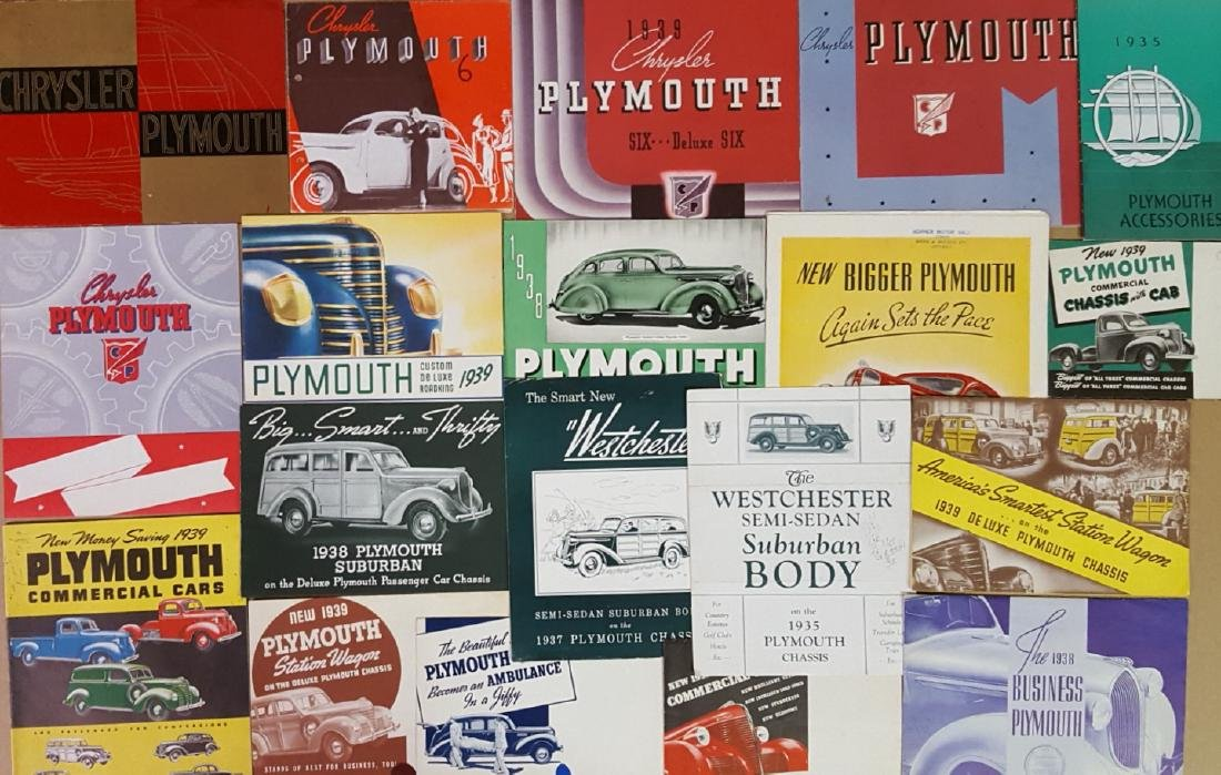 1935-1939 Plymouth brochures - 2