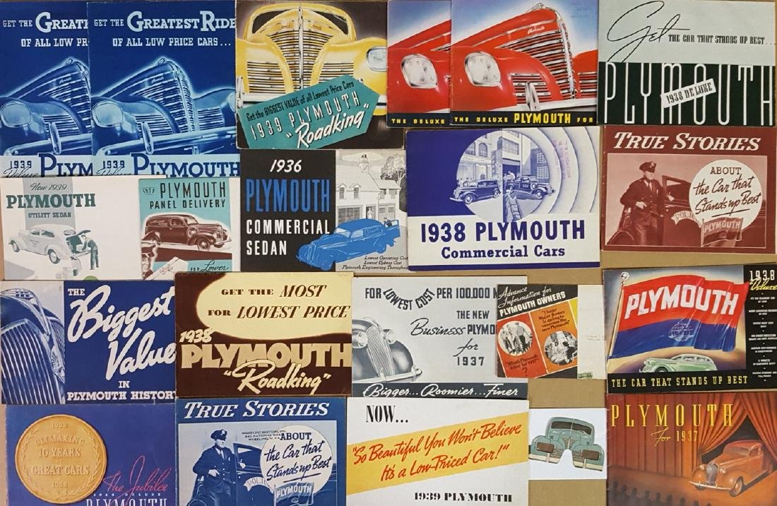 1935-1939 Plymouth brochures - 3