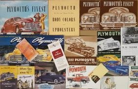 1940-1948 Plymouth and DeSoto brochures