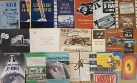 1935-1944 Nash and Lafayette brochures