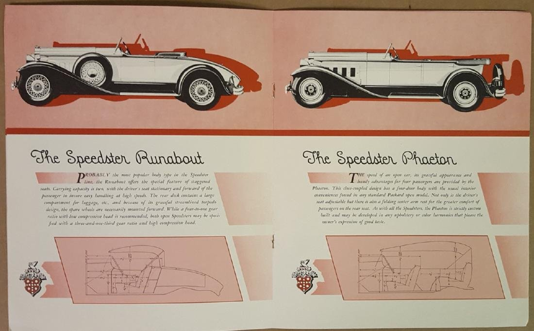 1930 Packard incl Speedster brochures - 2