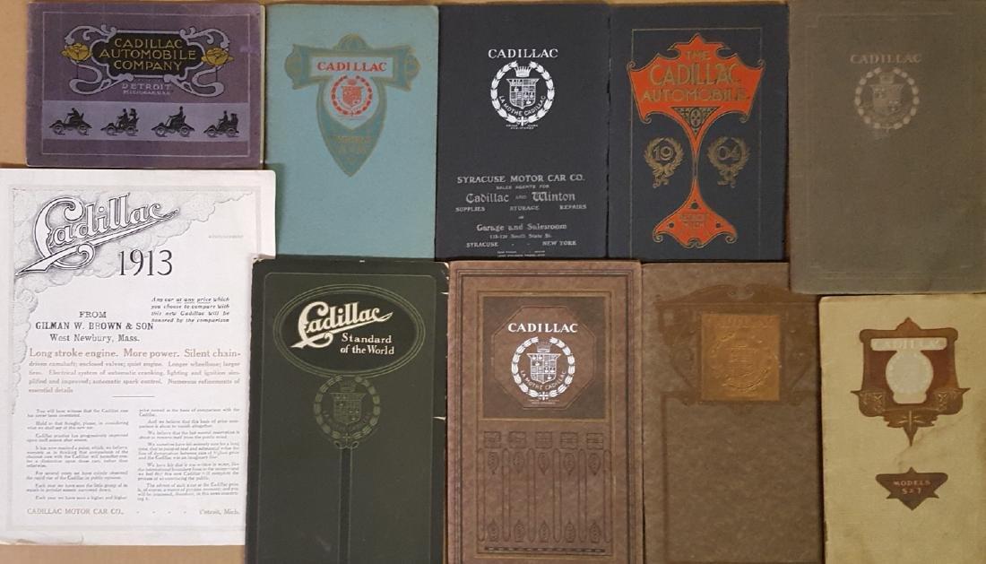 1903-1914 Cadillac brochures