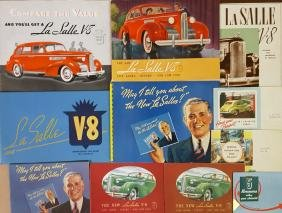 Cadillac, LaSalle Pierce Arrow brochures
