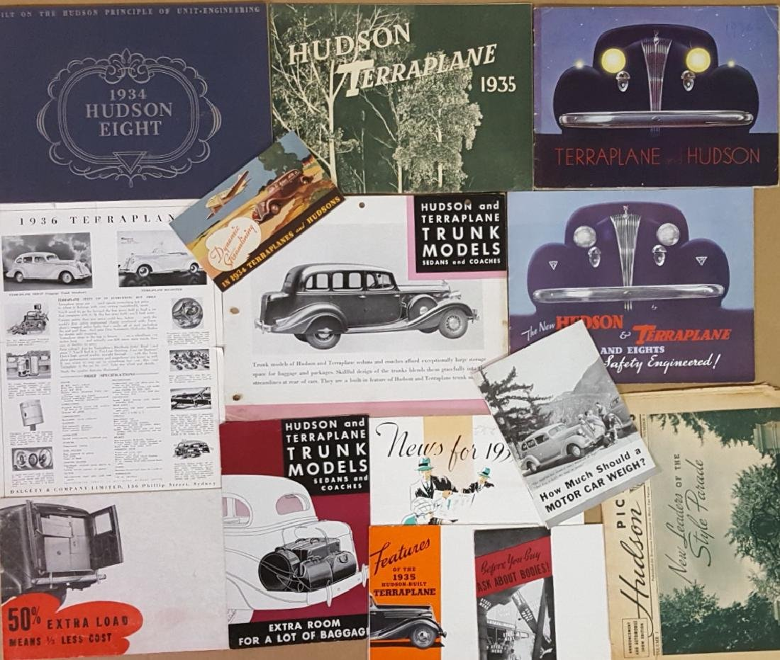 1934-1937 Hudson, 1933-1937 Terraplane brochures - 2