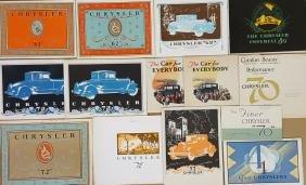 1924-1928 Chrysler brochures