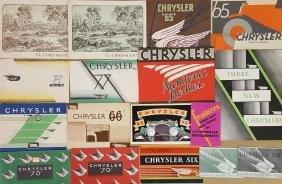 1929-1930 Chrysler brochures