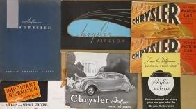 1933-1934 Chrysler brochures