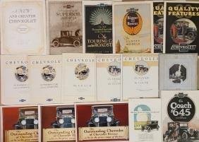 1917-1929 Chevrolet brochures