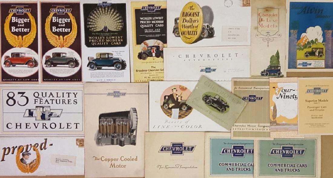 1917-1929 Chevrolet brochures - 2