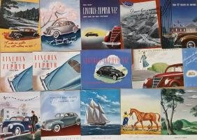 1936-1938 Lincoln Zephyr brochures
