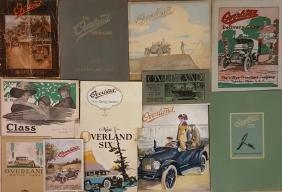 1909-1926 Overland brochures