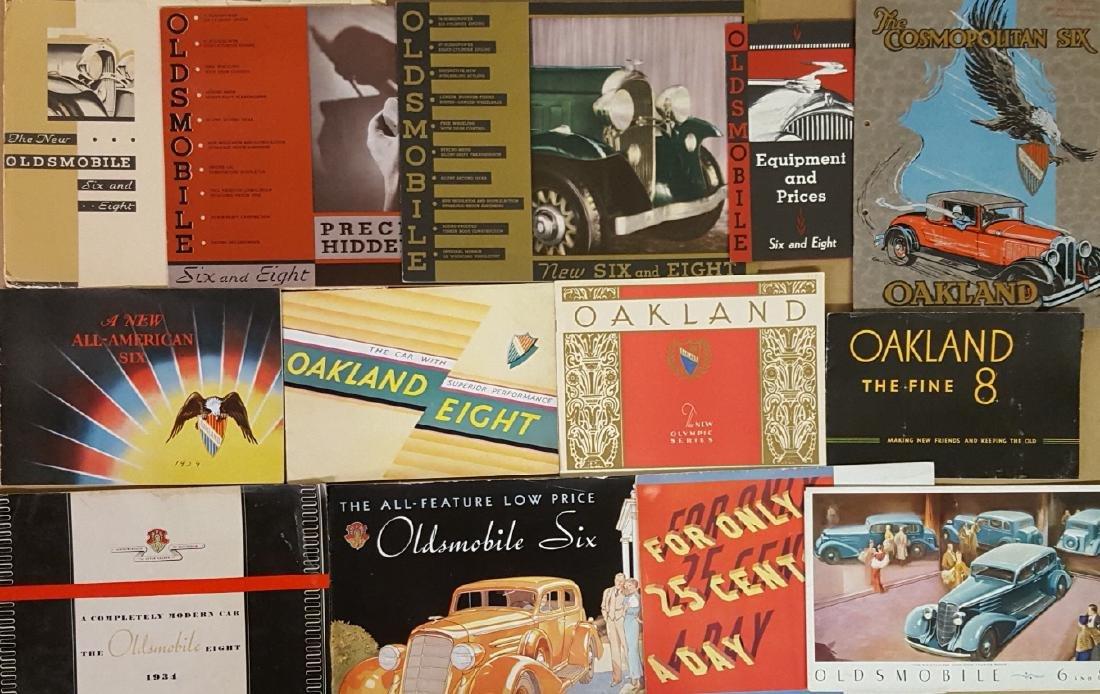 Oldsmobile and Oakland brochures