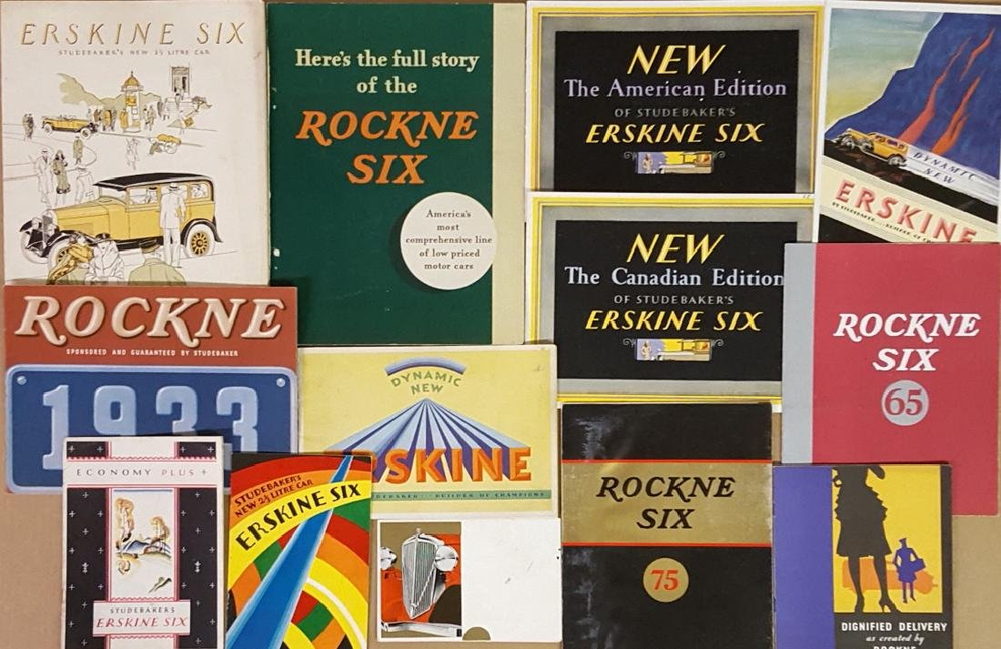 Studebaker, Erskine, Rockne brochures
