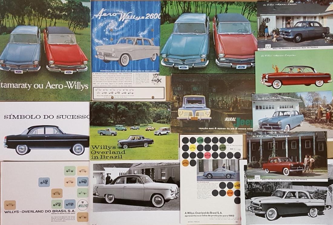 Nash export, Willys Aero brochures