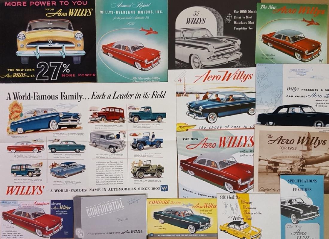 Nash export, Willys Aero brochures - 2