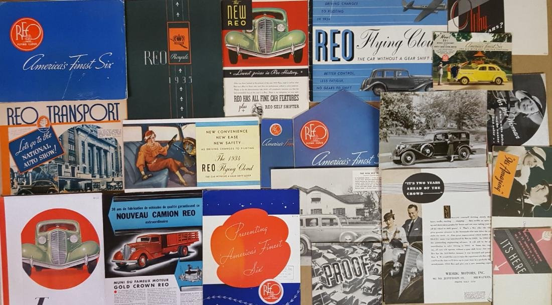 1930-1936 Reo passenger car brochures