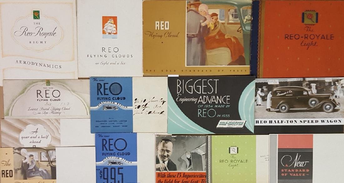 1930-1936 Reo passenger car brochures - 3