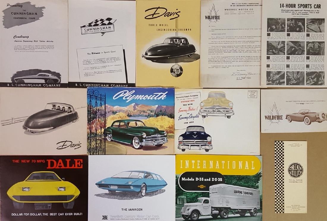 US low production car brochures - 2