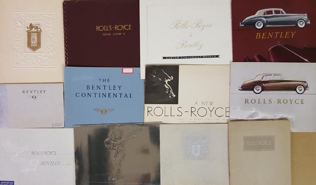 Bentley, Rolls, Rover brochures