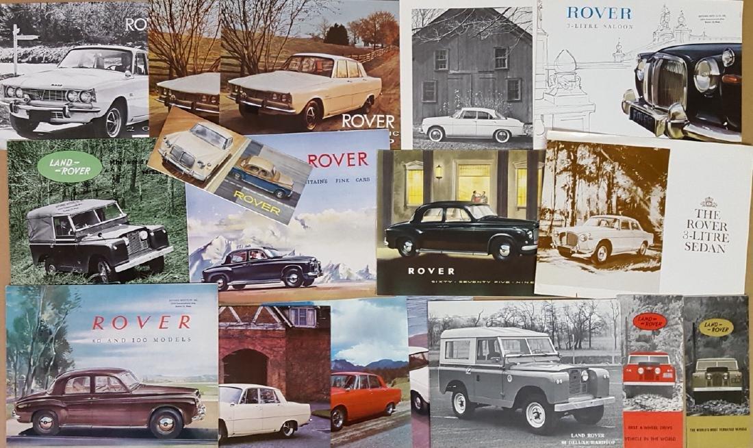 Bentley, Rolls, Rover brochures - 2