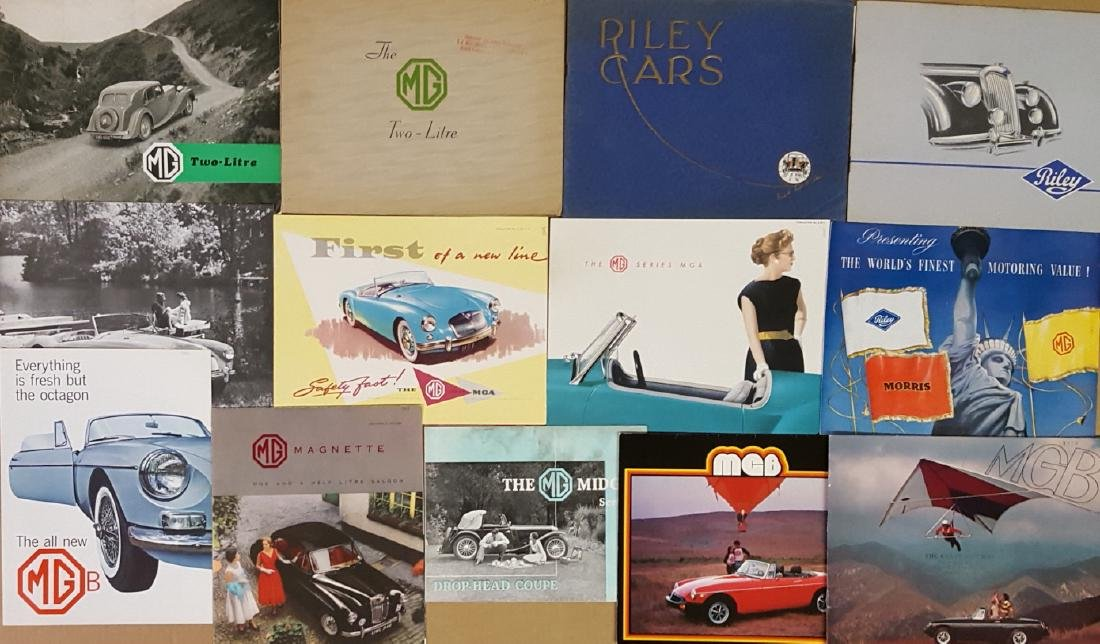 1930's-1960's MG and Riley brochures